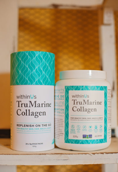 TruMarine Collagen is a premium select grade hydrolized collagen supplement. It is 100% pure and free of additives or preservatives.  It provides a high concentration of specific amino acids which help with the formation of collagen within the body. This increases skin hydration, reduces joint pain, strengthens hair and nails, and improves bone health. TruMarine Collagen is extracted exclusively from the scales of wild, sustainable fish caught from the deep, clean waters of the South Pacific Ocean. It is Health Canada approved and considered safe by the World Health organization and the FDA.