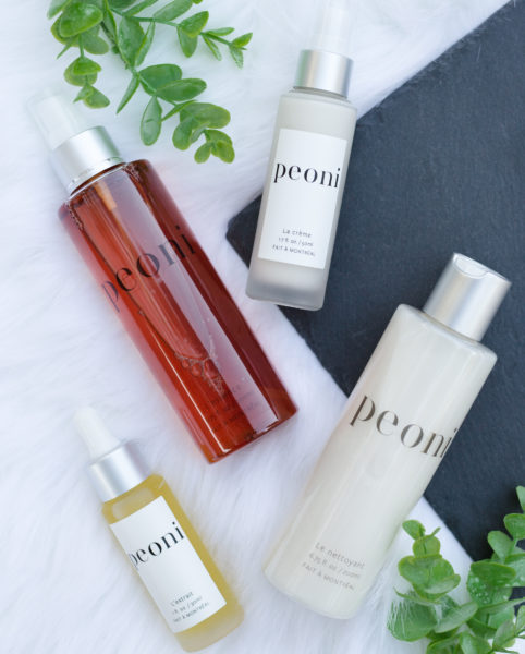 Peoni is a simple 4-step program that is results oriented and suitable for all skin conditions. Named after its key ingredient, it consists of a powerful combination of peony root extract, green tea, licorice root and vitamins that leave the skin soothed, replenished, healthy and glowing.
